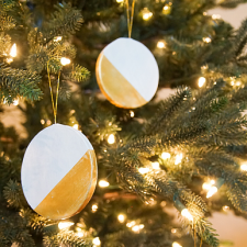Rustic Gold Dipped Ornaments