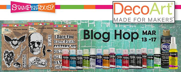 DecoArt Media and Stampendous! Blog Hop