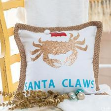 Santa Claws Pillow | Crafts by Courtney