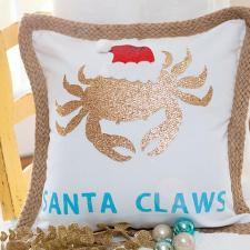 Santa Claws Christmas Pillow