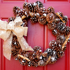 Snow Kissed Pine Cone Wreath
