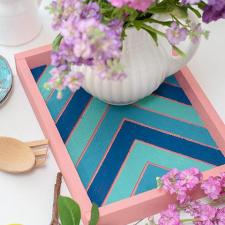 Spring Serving Tray by Courtney Sanchez