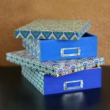 Decou-Paged Boho Storage Boxes