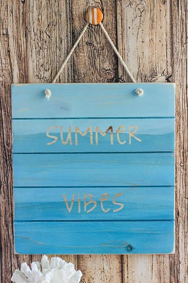 Decoart Blog Crafts Summer Vibes Wood Pallet Sign