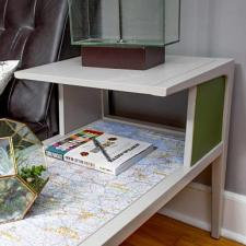 DIY Map End Table