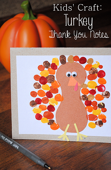 Decoart blog crafts turkey thank you card for November arts and crafts for daycare