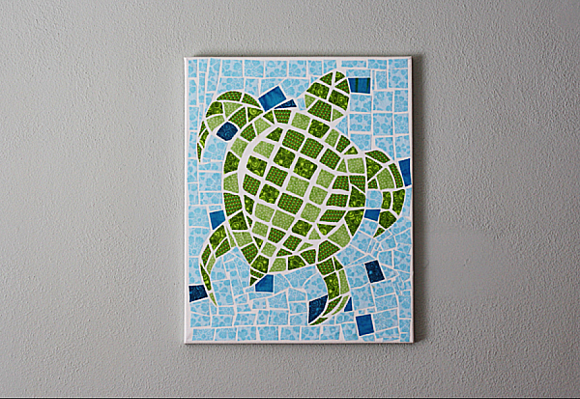 Decoart Blog Crafts Fabric Mosaic Turtle On Canvas
