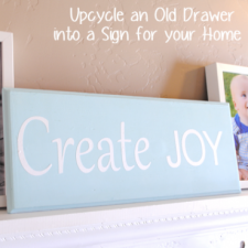 Upcycle an Old Drawer or Cupboard into a Sign for your Home