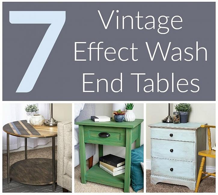 Beautiful 7 Vintage Effect Wash End Tables