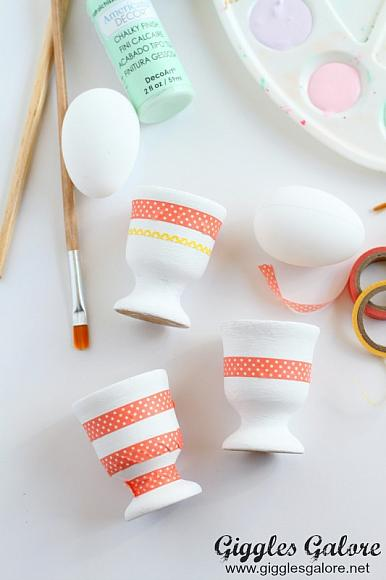 Instruction #3 - Washi Tape on Egg Cups