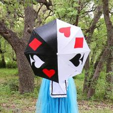 Queen of Hearts Painted Umbrella by Morena Hockley