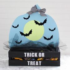 Wooden Halloween Candy Holder