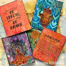Mixed Media Yoga Meditation Cards