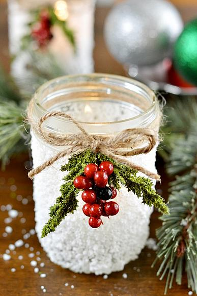 Instruction #5 - christmas mason jar