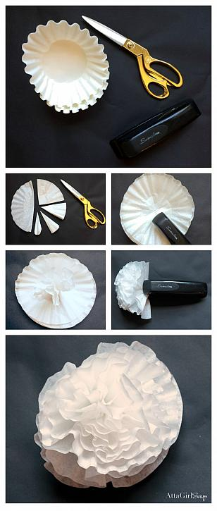 Decoart blog crafts paint dyed coffee filter flowers youll need six coffee filters to make each flower mightylinksfo