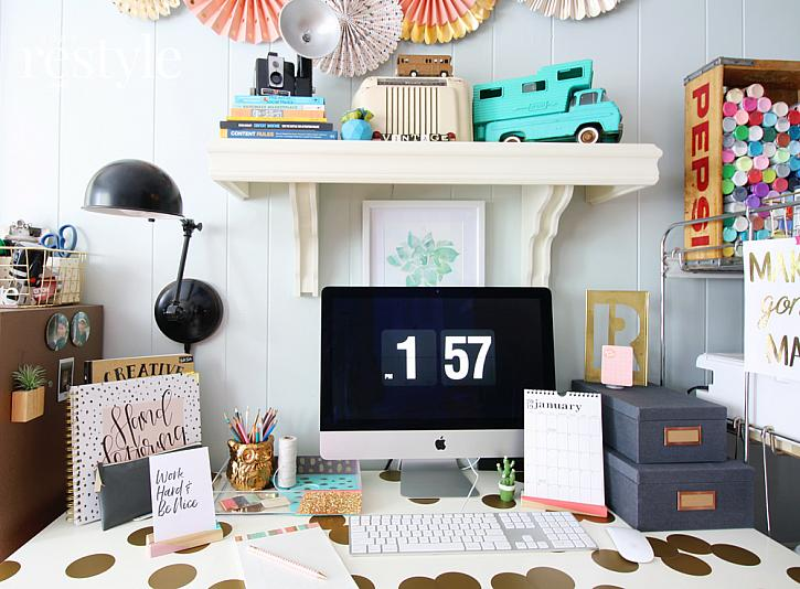 DIY Stylish   Colorful Desk Accessories