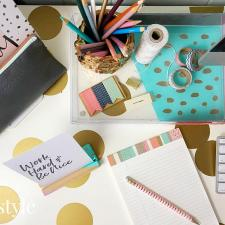DIY Stylish & Colorful Desk Accessories