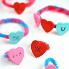 Conversation Heart Jewelry Craft for Kids