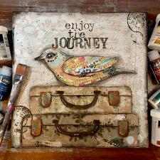 Enjoy the Journey - Mixed Media Art