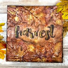 Textural Harvest Leaves Canvas