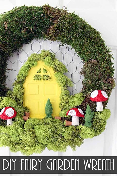 decoart blog crafts diy fairy garden wreath