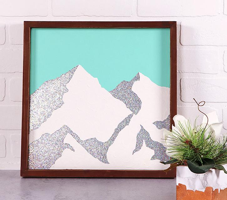 Instruction #9 - diy holographic minimal mountain art97