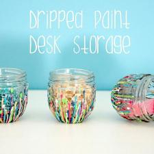 Dripped Paint Desk Storage