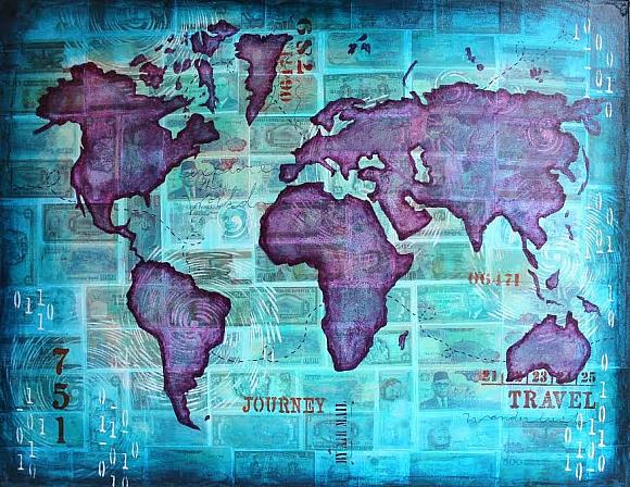 Decoart mixed media blog project mixed media world map mixed media world map gumiabroncs Images