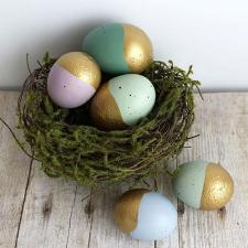 Gold-Dipped Easter Eggs