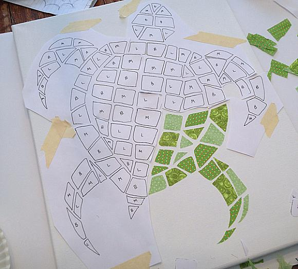how to make a roman mosaic out of paper