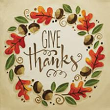 Give Thanks Canvas Painting