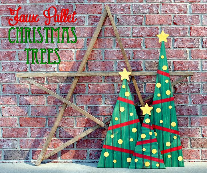 faux pallet christmas trees - Pallet Christmas Trees