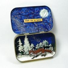 Fox in a Box Altered Tin