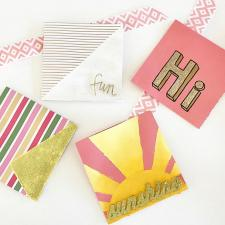 Handmade Glittered Cards by Katie Busenitz
