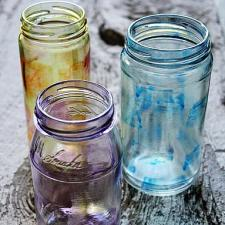Glass Stained Tinted Jars