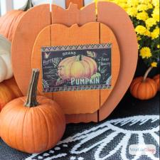 Pallet Pumpkin Vintage Advertising Sign