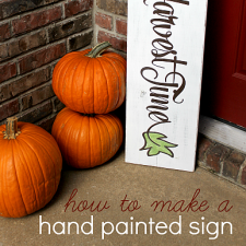 DIY Autumn Sign