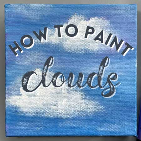 How to Paint Clouds   Acrylic Painting for Beginners