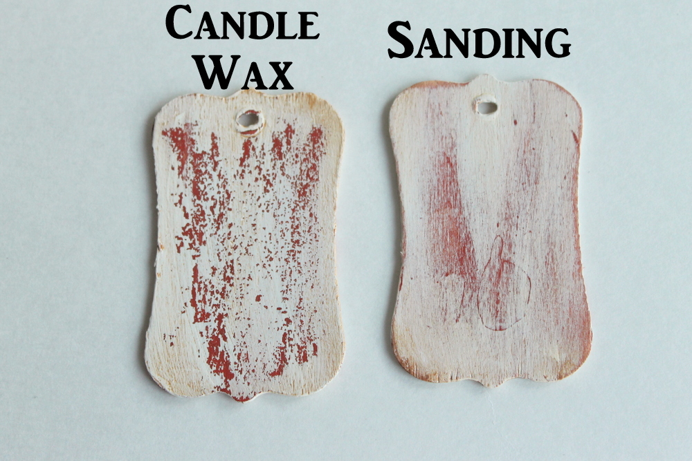 As You Can See The Candle Wax Version Makes Your Project Look Like Paint Has Chipped Over Time This Is A More Rustic Then Just Sanding Offer