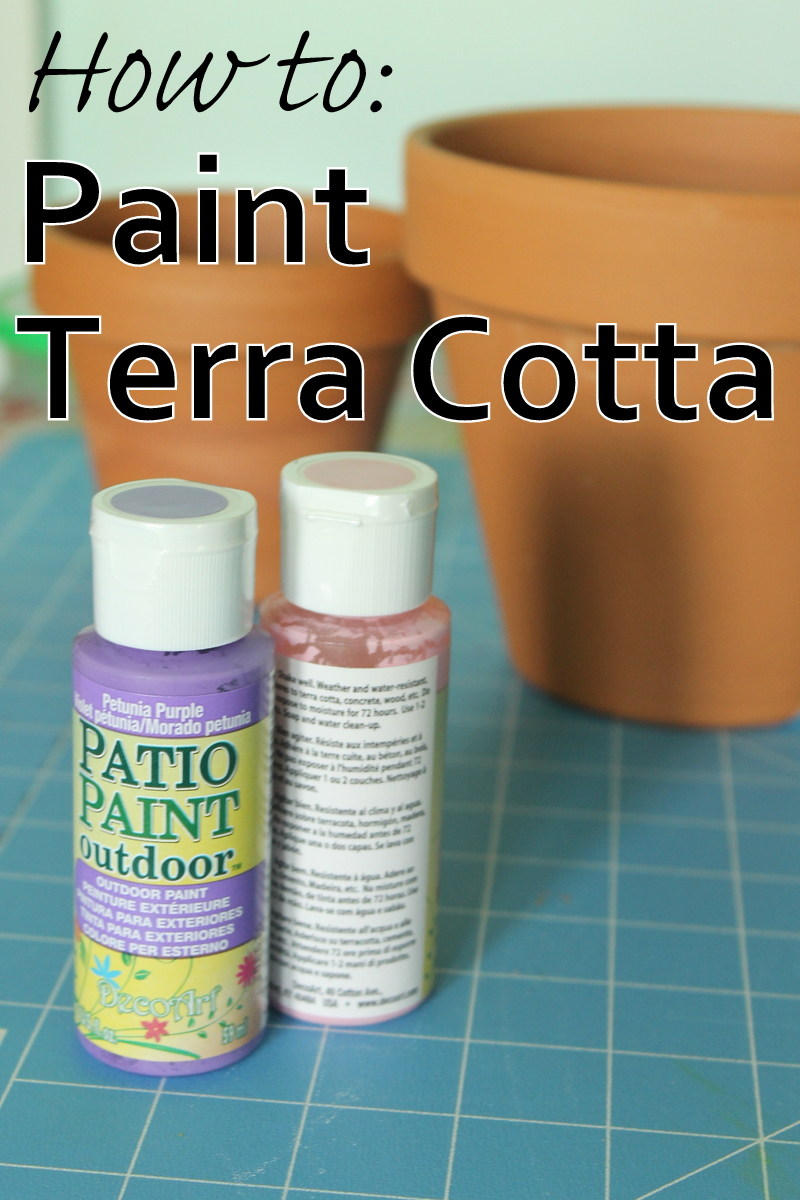 How To Paint Flower Pots With Acrylic Paint
