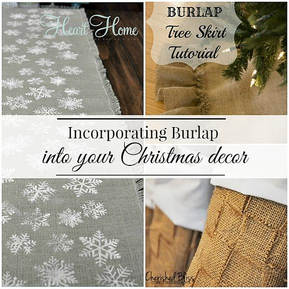 Incorporate Burlap into Your Christmas Decor
