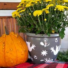 Otomi Textured Fall Planter by Kristy Robb