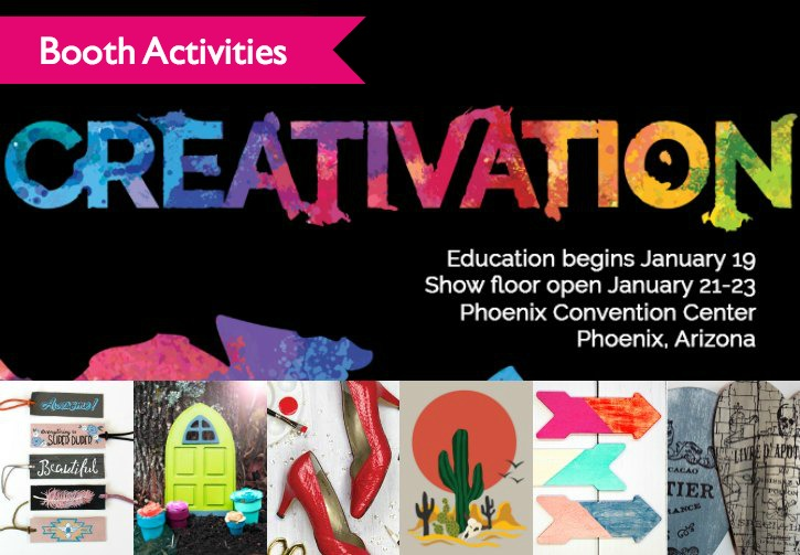 DecoArt Creativation - Booth Activities and Education