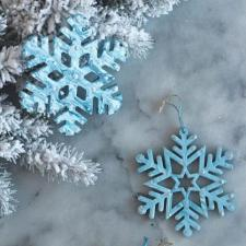 Marbled Snowflake Ornaments by Sparkle Living