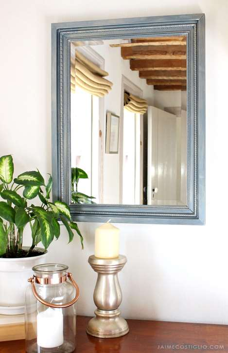 Matte Metallic Mirror Frame