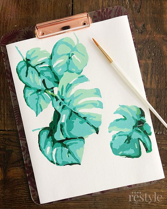 Decoart Blog Crafts Monstera Plant Printable Paint By Number