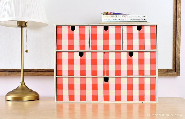 Gingham Organization Chest