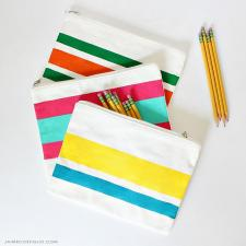Painted Zipper Pouches