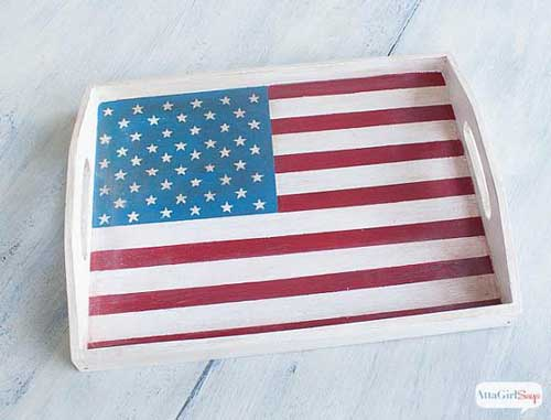 Instruction #7 - painted-chalky-finish-american-flag-tray-10