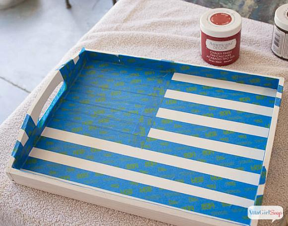 Instruction #1 - painted-chalky-finish-american-flag-tray-2